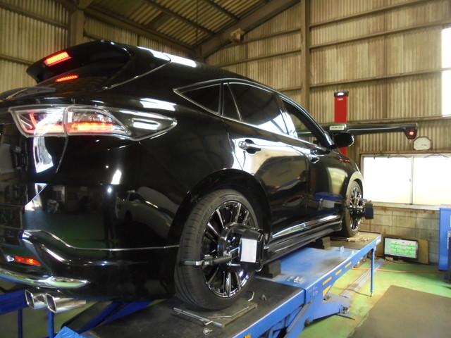 ZSU60W ハリアー 車高の調整と四輪アライメント調整