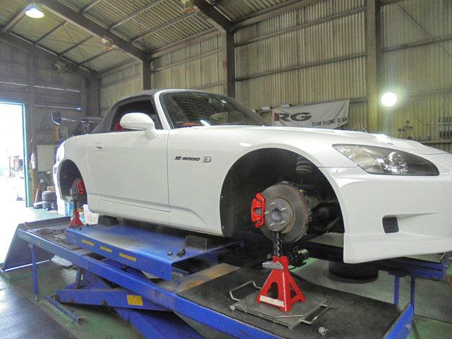 AP1 S2000 車高の調整 1G締め直し 四輪アライメント調整