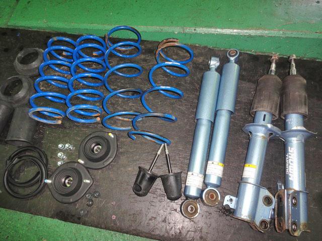 L880K コペン SHOWAサスキットに交換 四輪アライメント