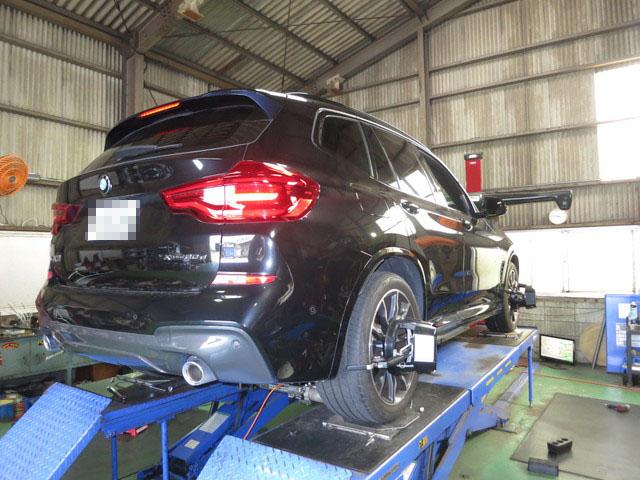 G01 BMW X3 四輪アライメント調整