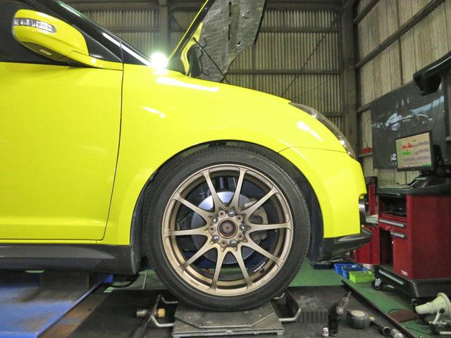 ZC31S スイフトスポーツ BLITZ ZZ-R DSC付き車高調 四輪アライメント調整