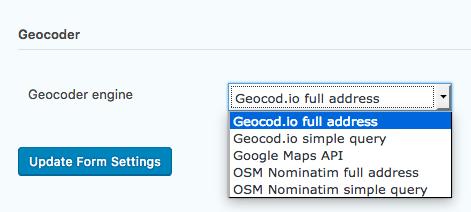 Changing Geocoder Engine