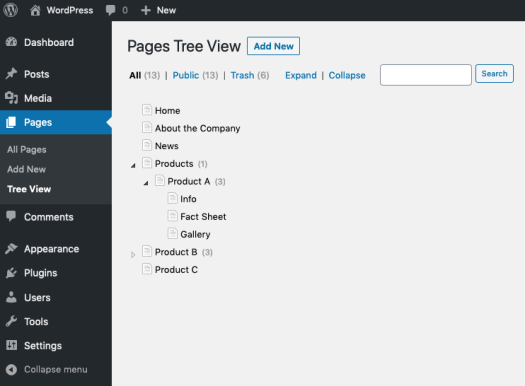 cms-tree-page-view screenshot 1