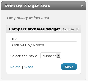 compact-archives-widget screenshot 1