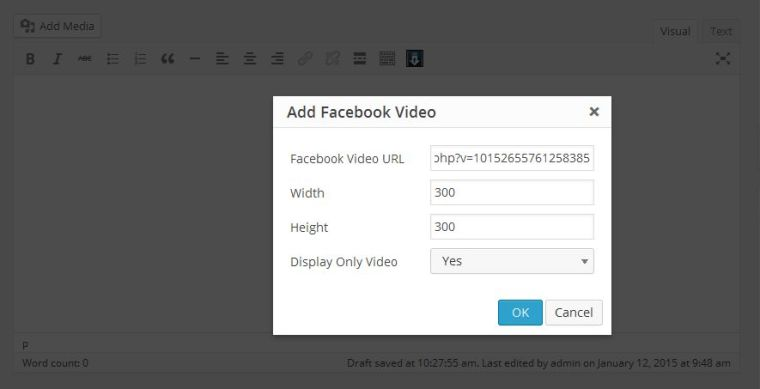 facebook-video-embed screenshot 2