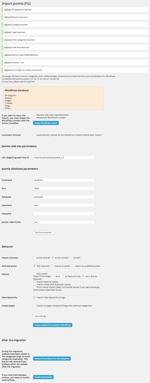 Importando desde Joomla a WordPress