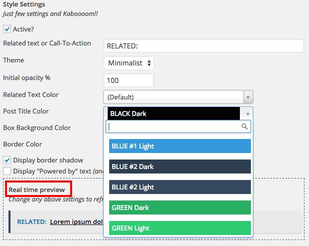 Inline Related Posts Capture d'écran