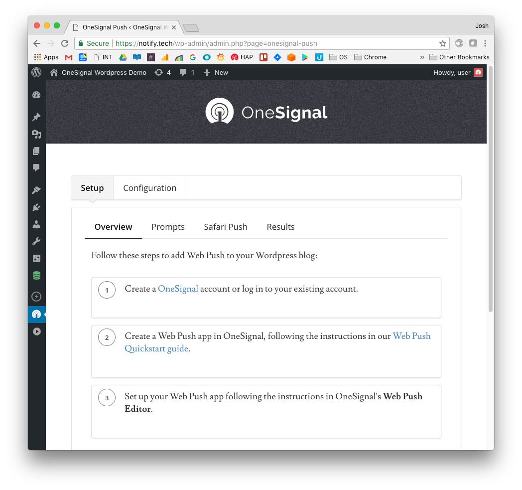 OneSignal – Web Push Notifications Screenshot