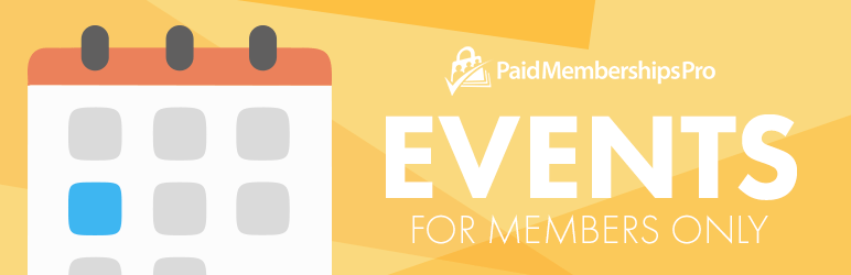 Paid Memberships Pro – Events Add On