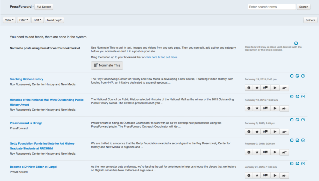 All Content List View provides title, source, snippet, and additional information for every item.