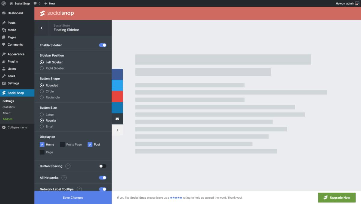 Social Sharing for WordPress – Social Share Buttons & Toolkit by Social Snap Screenshot