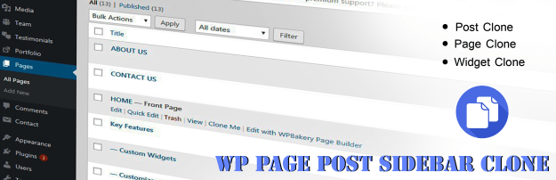 WP Page Post Widget Clone