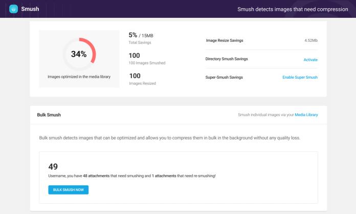 Smush – Lazy Load Images, Optimize & Compress Images Screenshot