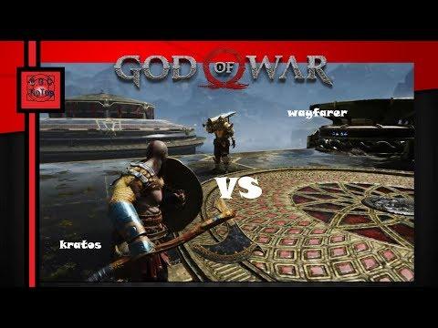 Бой с Путником в тяжёлых латах в God of War 4 | На высоком уровне сложности