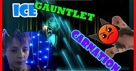 CARNATION of ICE GAUNTLET (HARDER 6 STARS)/GEOMETRY DASH/75 FPS