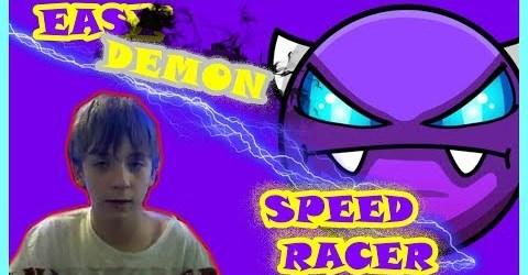SPEED RACER/EASY DEMON #9 (ДЕМОН С 1 ПОПЫТКИ)/GEOMETRY DASH/75FPS/75 ГЕРЦ/NO HACKS