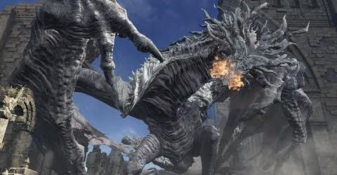 Dark Souls III — Древняя виверна на пике древних драконов
