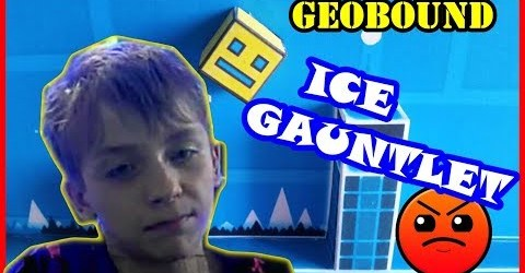GEOBOUND of ICE GAUNTLET /GEOMETRY DASH/HARDER 6 ЗВЁЗД/75 FPS