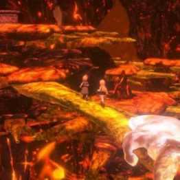 World of Final Fantasy -Décors de lave