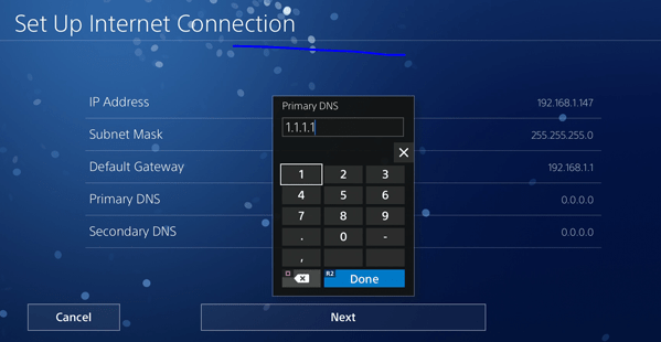 DNS server for ps4