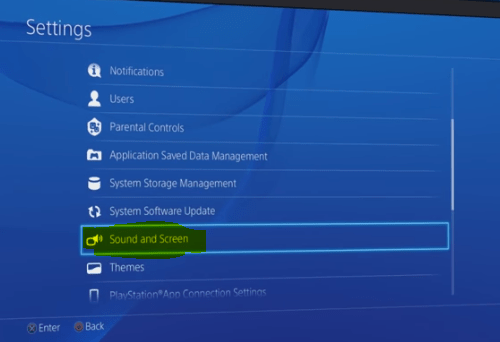 PS4 Safe Mode Sound and Screen