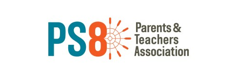 The PS 8 PTA Logo