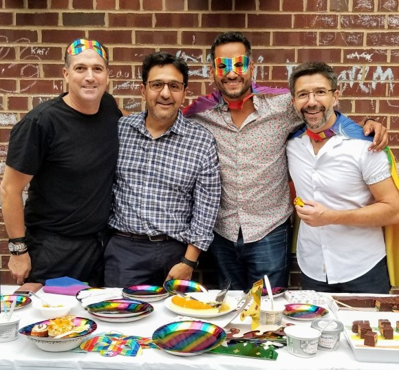 Dads representing LGBTQ