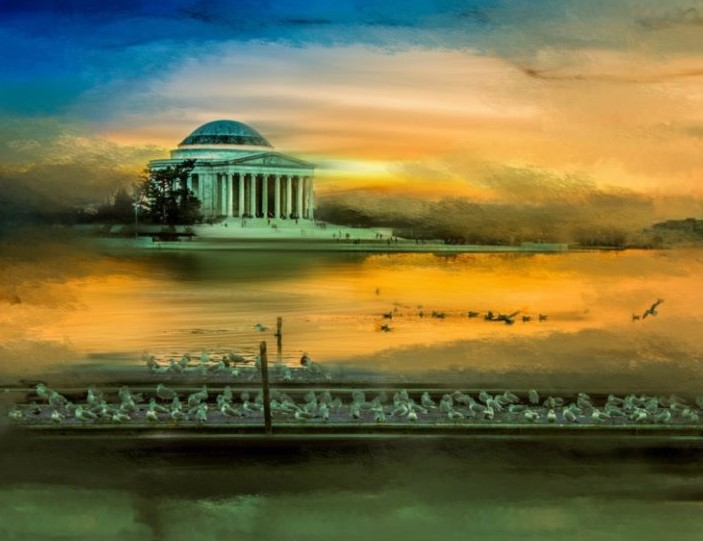 Jefferson Memorial in Watercolor