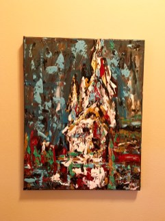 Acrylic textured church