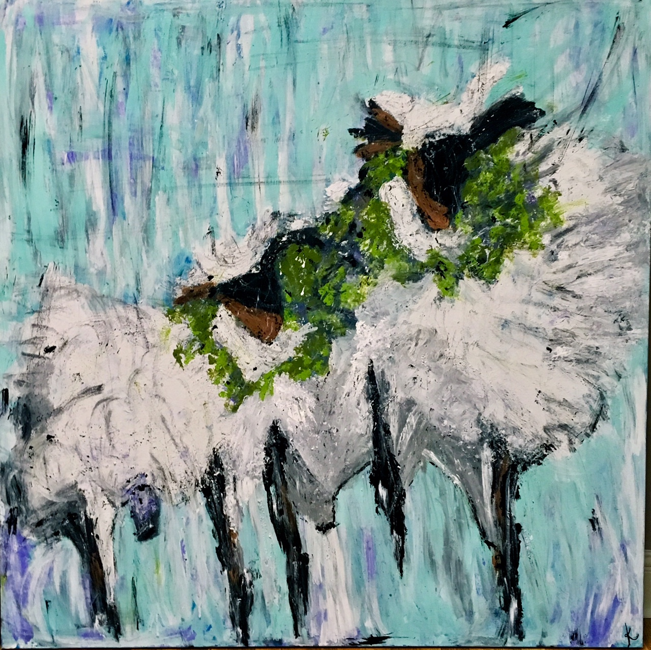 """Lavender Lambs"" (Lavender is the color of GRACE!)"