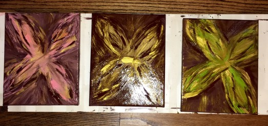 3 cross canvases - each 8x10