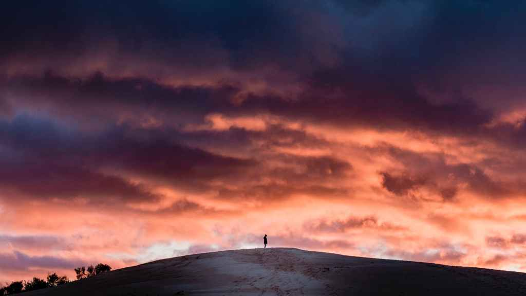 light dawn landscape sunset