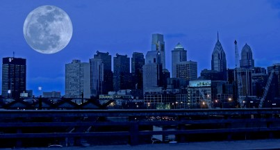 Moon over Philadelphia