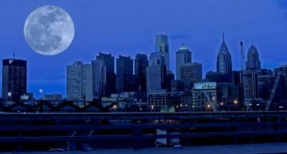 Moon over Philadelphia