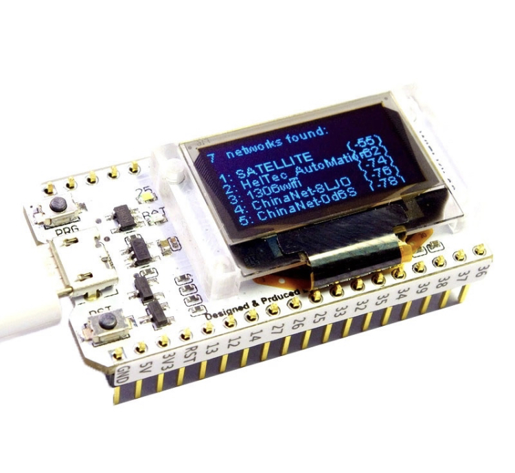 ESP32 WiFi-Bluetooth Module with 0 96 Inch Blue OLED | Psalmchmart