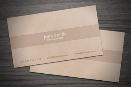 Chocolate Coffee Business Card PSD Template