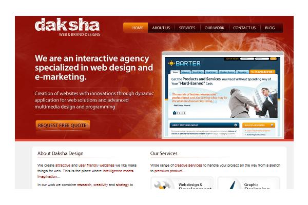 Daksha web design