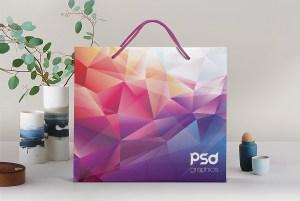Shopping Paper Bag Mockup PSD
