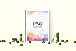 Poster Frame Mockup Template Free PSD