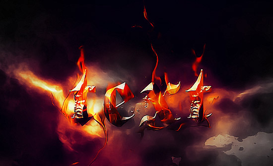 Create a Burning Metal Text with Melting Effect in Photoshop