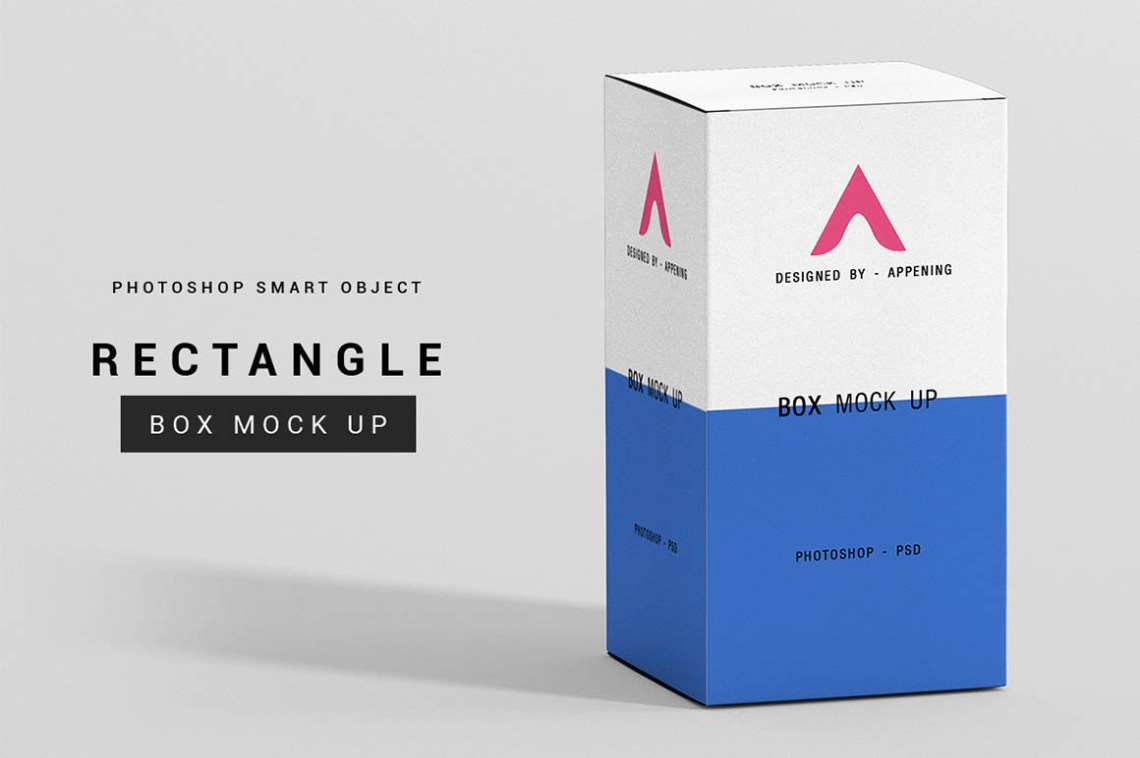 Download Rectangle Box Mockup Set | Psdblast