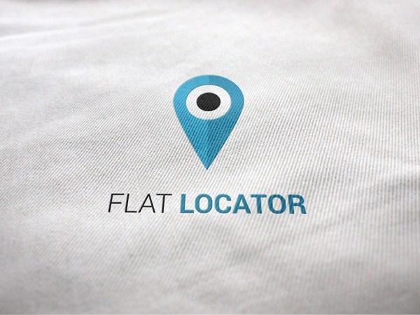 flat locator free logo template downlaod