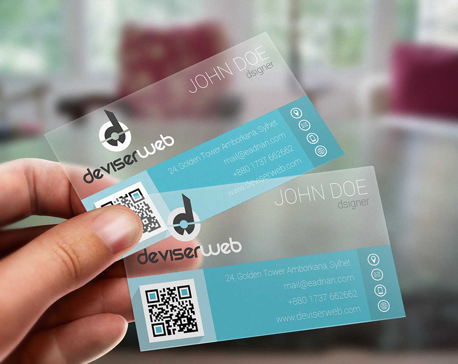Free Flat Transparent Plastic Business Card – PSDboom