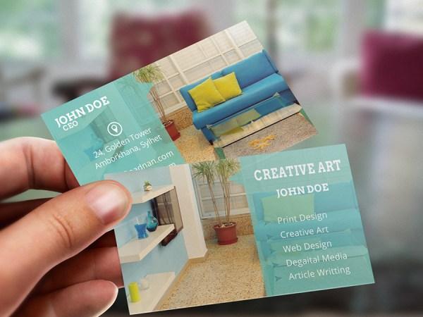 Free Modern & Creative PSD business card print template download