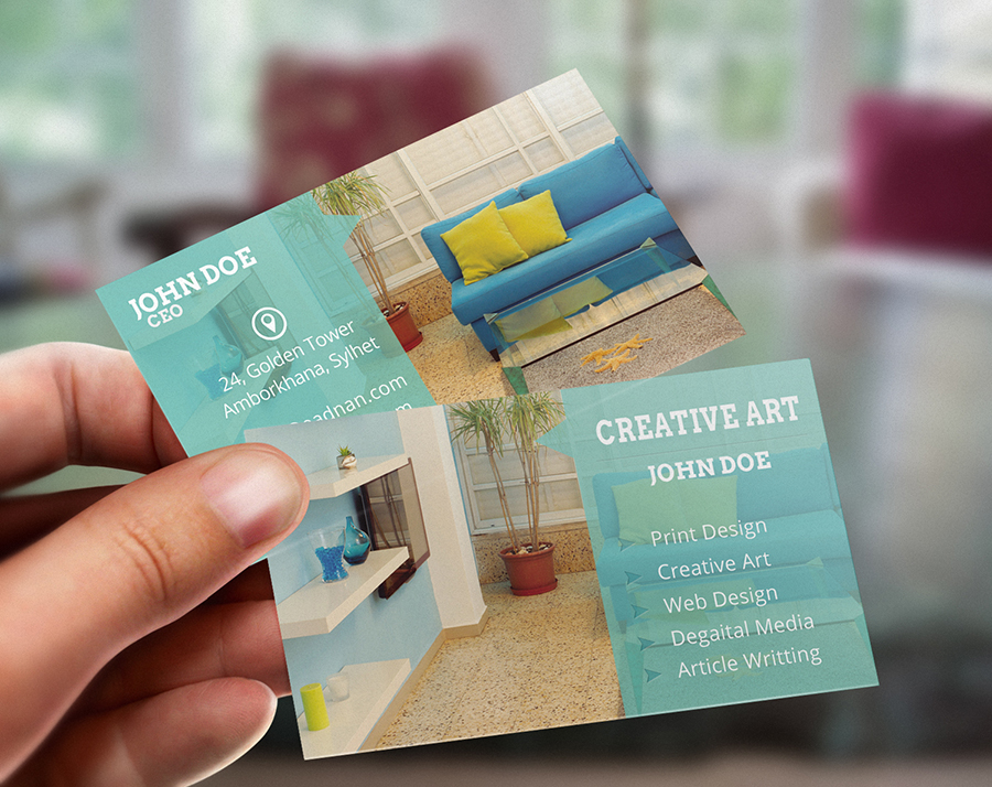 Free Modern & Creative PSD business card print template download