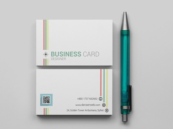 free psd line business card template download