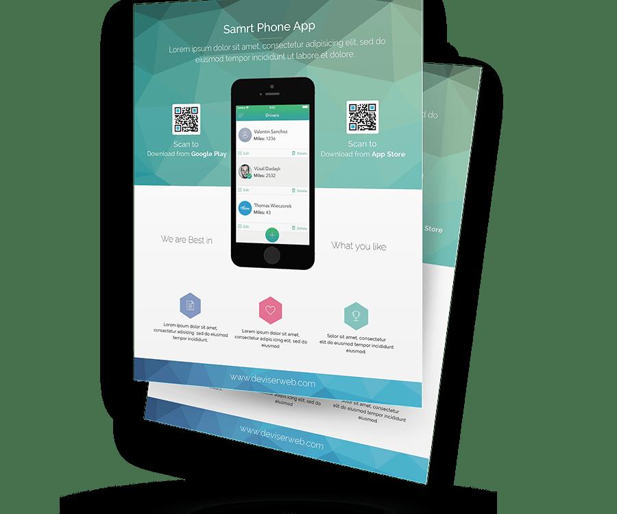 free psd app promotion flyer templates psdboom