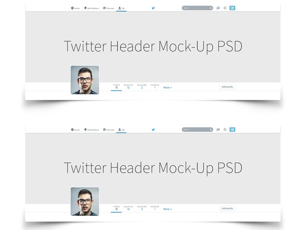 Twitter Header Cover Background image Mock up psd download