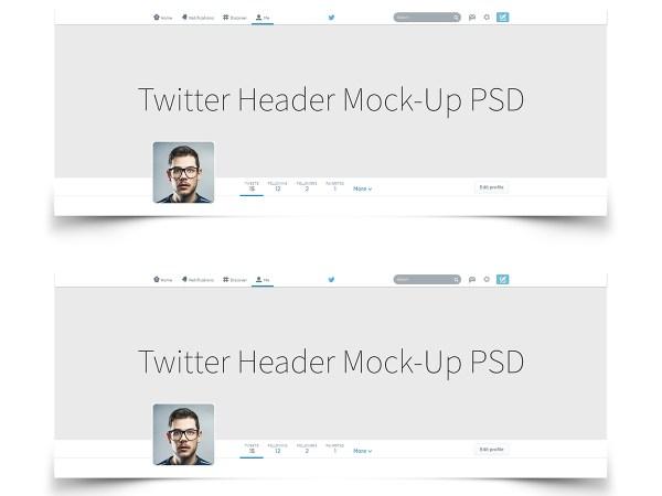 Twitter Header Cover Background image Mock up psd download