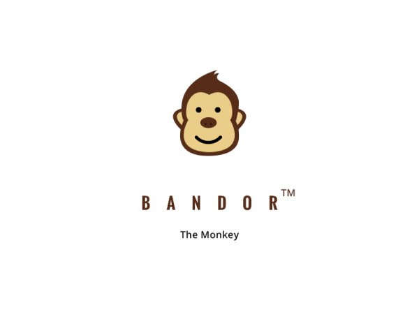 Bandor The Monkey Logo Illustration Free Download